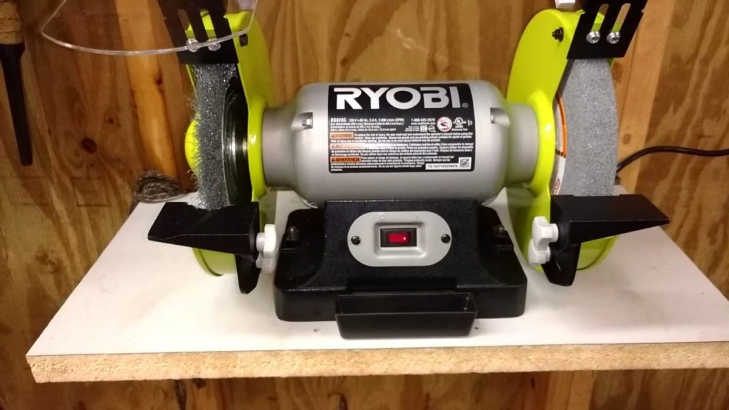 How to Change the Wheel On a RYOBI Bench Grinder