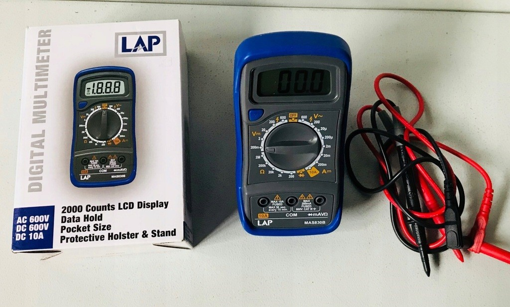 How to Use a Lap Mas830b Multimeter