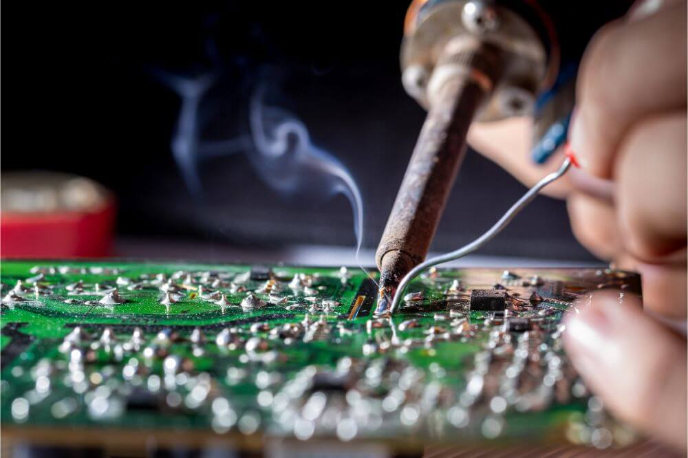 How to Use a Soldering Iron on a Circuit Board
