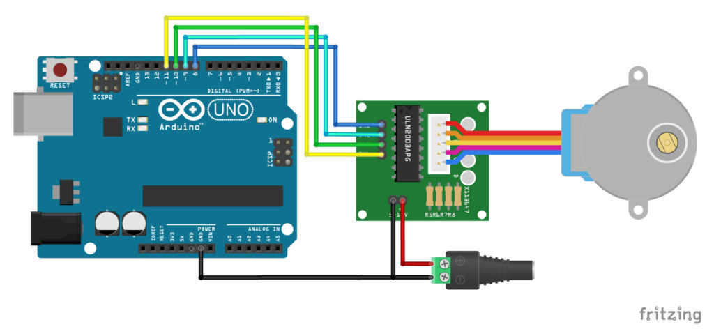 How to Connect ULN2003 to Arduino